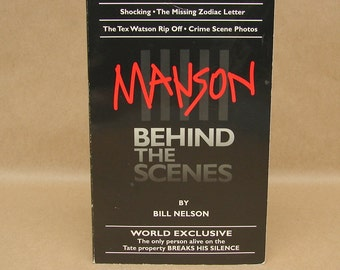 Vintage Manson Behind The Scenes Rare Charles Manson Family Book