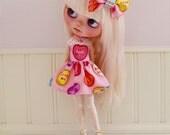 Blythe Dress  Conversation Hearts Valentine's Dress and Bow Set by Sweet Petite Shoppe