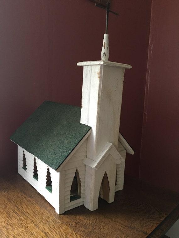 sale vintage handmade wooden church with pews pulpit. Black Bedroom Furniture Sets. Home Design Ideas