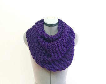 SALE- Infinity Scarf- In EGGPLANT