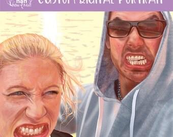 Custom Couple Portrait Digital Painting