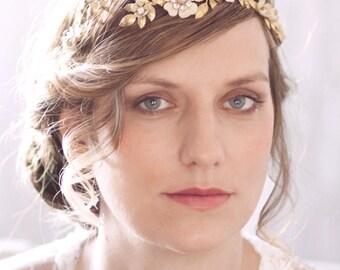 Flower Wedding Tiara with Enamel Flowers #802TA