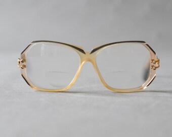Vintage Cazal oversized eyeglasses frames blue glasses sunglasses 80s womens spectacles oversize statement nerd frame eyewear