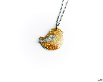 Cute bird pendant,bird necklace,bird,bird jewelry,modern jewelry,nature
