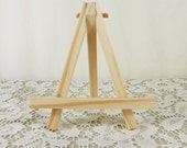 Small Wood Easel Tabletop Light Wood Easel for Miniature Art Place Card Banquet Wedding Sign