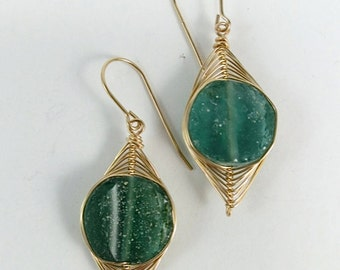 Roman Glass Earrings