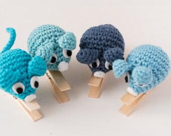 Set of four pin-mice