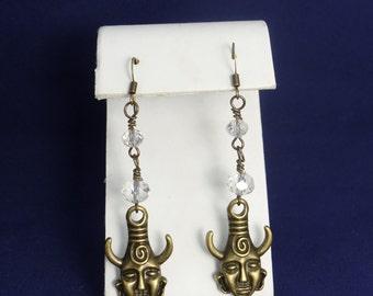 Supernatural, Dean's Amulet Earrings (Antique Brass)