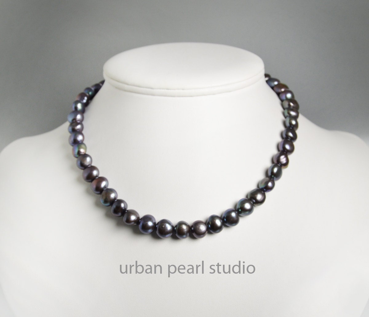 black pearl necklace pearl choker necklace freshwater. Black Bedroom Furniture Sets. Home Design Ideas