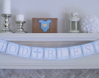 Personalized Baptism Banner, Christening Banner, First Communion Banner, Confirmation Banner P030