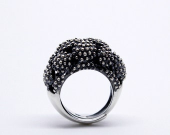 Gothic Engagement Ring, Contemporary Engagement Ring, Cocktail Ring, Statement Ring, Unique Ring, sterling silver ring