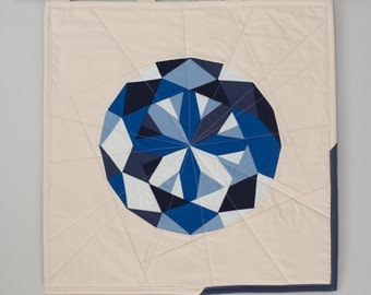 September Birthstone Quilted Poster: Sapphire
