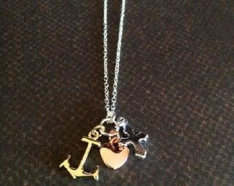 Faith hope charity etsy faith hope love necklace faith hope charity anchor necklace anchor jewelry multi aloadofball Choice Image