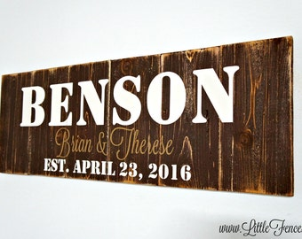 Custom Wood Signs | Personalized Wooden Signs | Name Sign | Quote Signs | Home Established Sign | Last Name Wall Art | Family Name Sign
