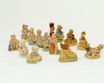 Red Rose Tea Nursery Rhyme , Wade Figurines,Wade Whimisies, Red Rose Collectibles, Collectible Figurines, Nursery Rhyme Figurines