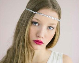 Wedding Crystal Headband,Crystal Forehead Headband,Wedding Forehead Headband,Forehead Jewelry,Crystal Forehead Band,Bridal Forehead Band