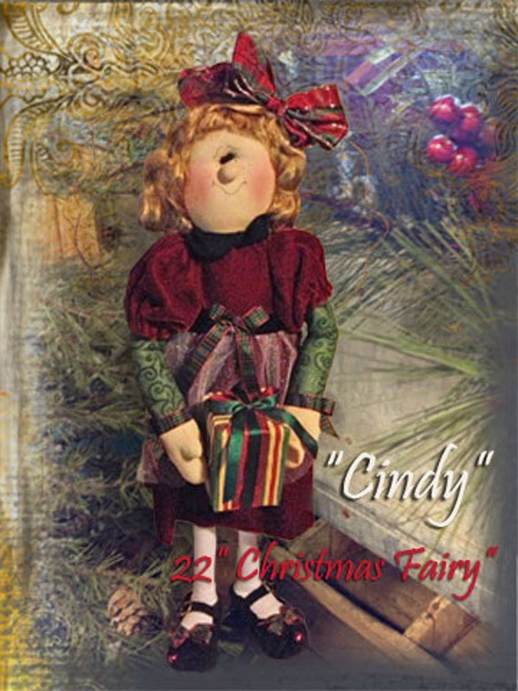 "Pattern: Cindy - 22"" Christmas Fairy"