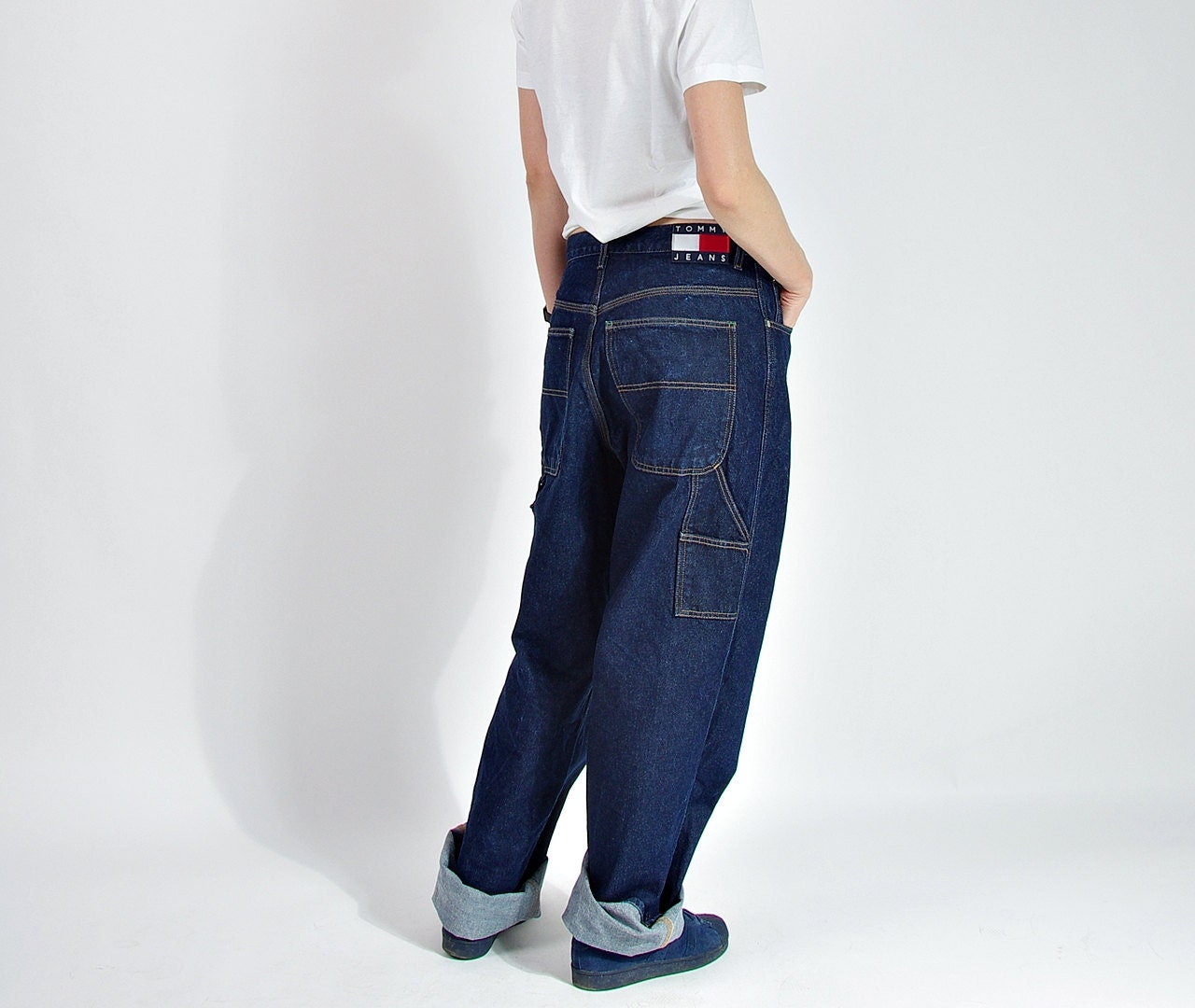 90s tommy hilfiger baggy jeans hip hop rap style american