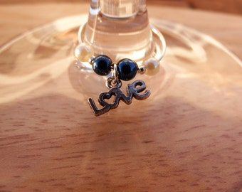 Celebrating Love Set of 6 Wine Glass Charms
