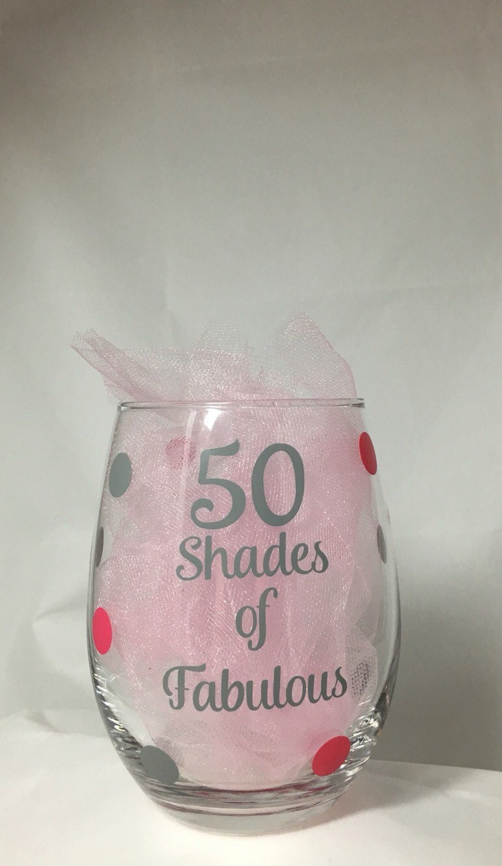50 Fabulous Ways To Wear Glitter Nails Like A Boss: 50th Birthday Gift 50 Shades 50 Shades Of Fabulous Wine