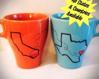 Valentine's Day Gift Long distance Relationship Coffee Mugs!