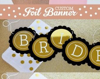 Rose Gold Wedding Banner Copper Wedding Decor Rose Gold Bridal Shower Copper Bridal Shower Banner (EB3034FW)