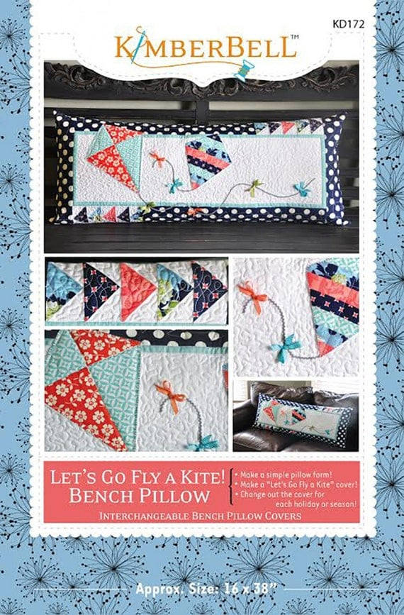bench pillow pattern let 39 s go fly a kite by. Black Bedroom Furniture Sets. Home Design Ideas