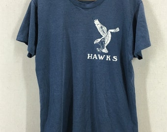 Vintage Distressed 1980s Paper Thin Hawks Interstate Trophy Tshirt Sz M/L
