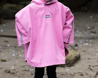 Pink Rain Poncho for Kids