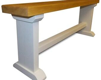 Handmade Farrow & Ball Pine Dining Bench