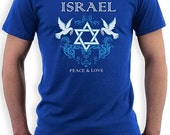 Israel Peace & Love T-Shirt (unisex)