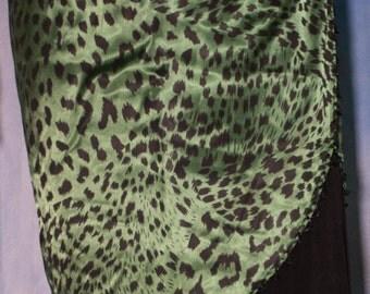Animal Print Accent Skirt