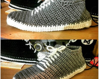 Vans sneakers crochet slippers shoes made to order
