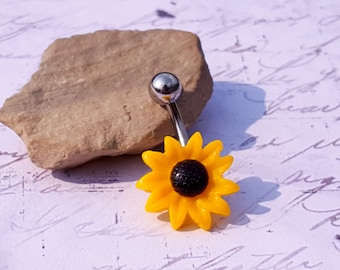 Sunflower Belly Ring (14G)