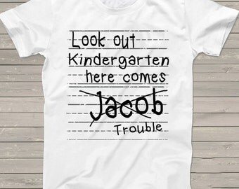 Class of 2029 1st day of Kindergarten shirt Personalized First Day of School tshirt Back to School Shirt pre-k T-Shirt boys one of a kind