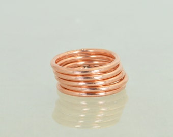 Round Copper Classic Size Stackable Ring(s), Copper Rings, Stackable Rings, Stacking Rings, Copper Ring, Round Copper Rings, Copper Band