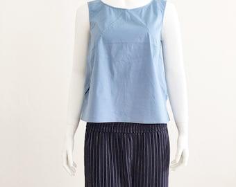 90s JIL SANDER minimalist boxy light blue top