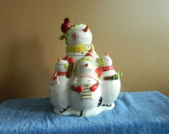 Snowman  Family Cookie Jar