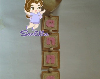 Baby banner on heart