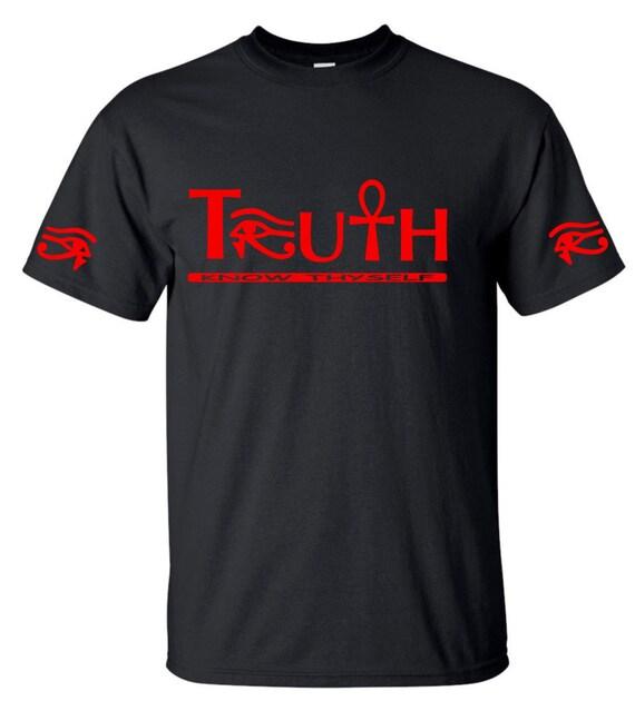 African Clothing // Ankh Shirt {3rd Eye Truth} Egyptian Clothing // Kemetic // Eye of Horus // Eye of Ra // Eye of Heru // Know Thyself Gk4ofT