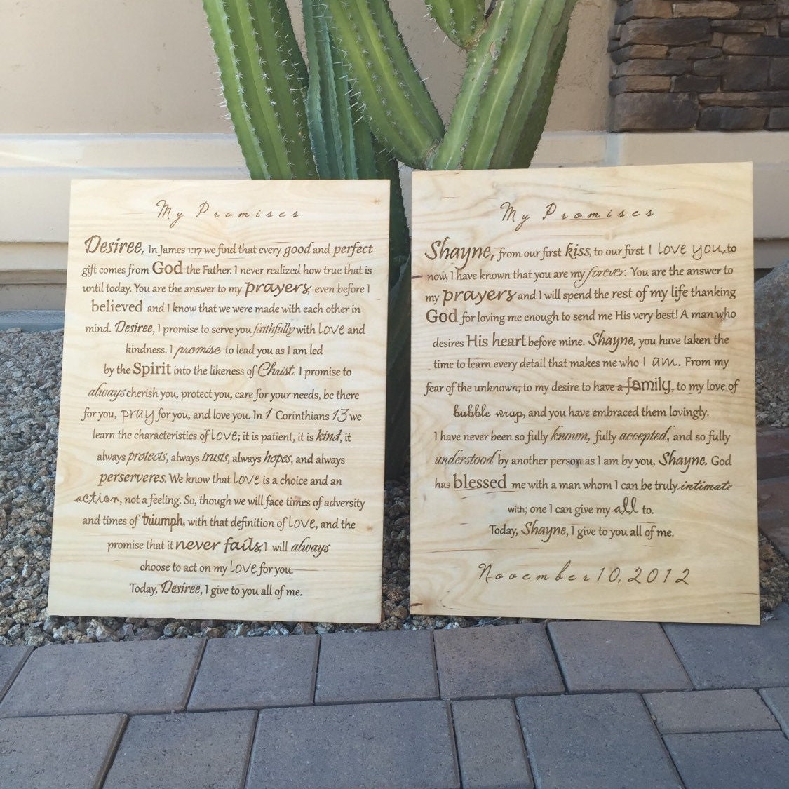 wedding vows to canvas