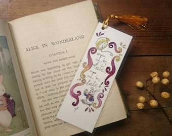 Alice in Wonderland bookmarks Alice Unique bookmarks Handmade bookmarks White rabbit Watercolor bookmark Unique gifts