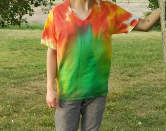Northern Lights Aurora Borealis Tie Dye Medium Shirt
