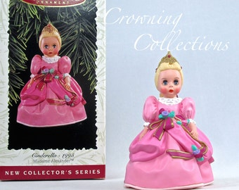 1996 Hallmark Madame Alexander Cinderella Keepsake Ornament #1 in Series Doll 1st Princess Vintage Pink Dress