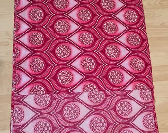 Pink Shimmer Hi Lo African Cotton Wax Print Tunic - Small