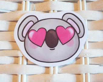 Cute Heart Eyes Koala Sticker