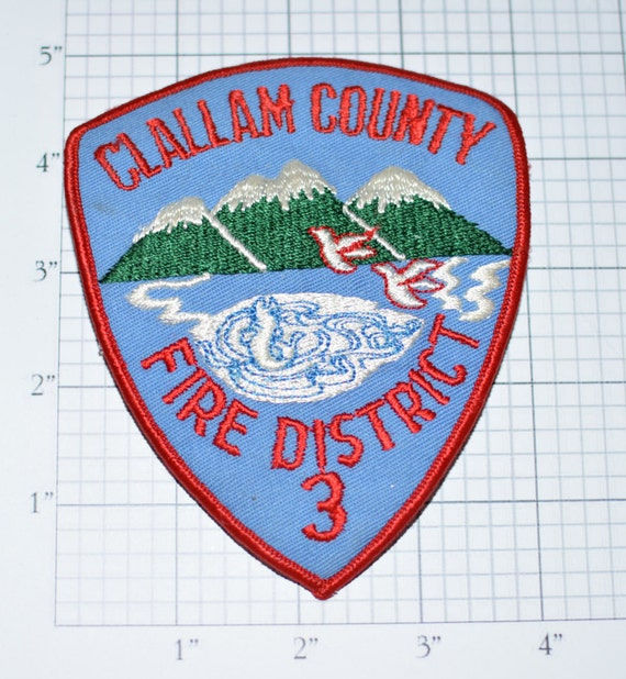 Clallam County Washington State Fire District 3 Iron On