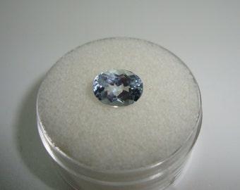 Paraiba Tourmaline 8 x 6 mm Oval Cut African Gemstone Weighs 1.35 Carats-AMAZING CLARITY & BRILLIANCE
