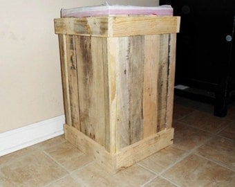 wood trash can rustic kitchen decor unfinished 13 gallon garbage can pet - 13 Gallon Trash Can