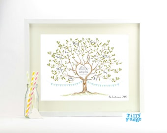 Family Tree Illustrated Print